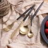 葡萄牙同款LEON刀叉勺304黑金牛排刀叉鍍金不銹鋼餐具