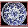 高端精品陶瓷海鲜大盘创意餐厅酒店专用青花瓷盘景德镇