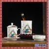 珐琅彩陶瓷文具 茶杯办公杯笔筒烟灰缸商务送礼国庆节新年礼物