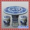 景德镇 全手工手绘工笔山水瓷器陶瓷桌户外 阳台瓷器桌子