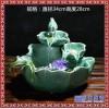 陶瓷招财流水喷泉加湿客厅书房风水摆件桌面水景风水轮招财鱼缸