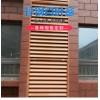 小区厂房不生锈的咖啡色百叶窗钢结构围栏厂家